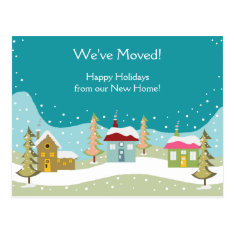 Holiday Moving Announcement Postcards at Zazzle