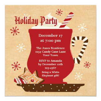 Holiday Mug Party Invitation