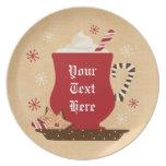 Holiday Mug Personalized Plate
