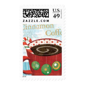 Holiday Mug with Cinnamon Coffee Postage