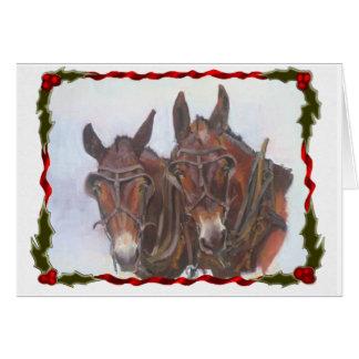Holiday Mules Christmas Card
