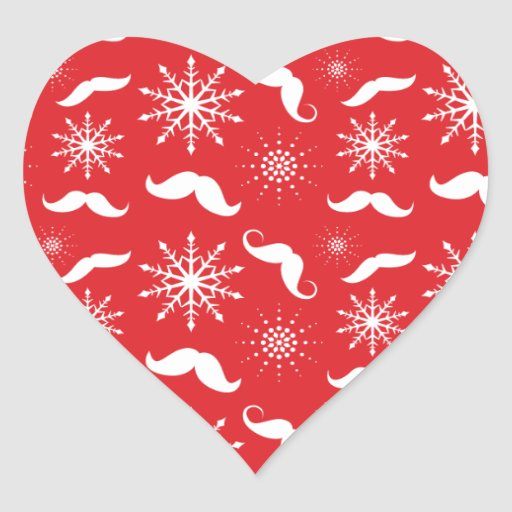 Holiday Mustache Pattern Stickers