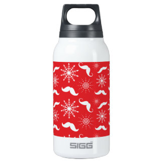 Holiday Mustache Pattern Thermos Bottle