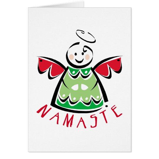 Holiday Namaste Angel Card