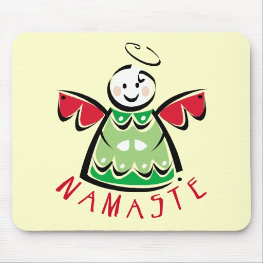 Holiday Namaste Angel Mouse Pads