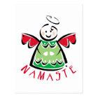 Holiday Namaste Angel Postcard