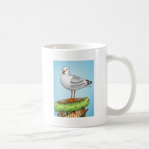 Holiday Nautical Seagull Classic White Coffee Mug