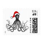 Holiday Nautical Steampunk Octopus Vintage Kraken Stamps