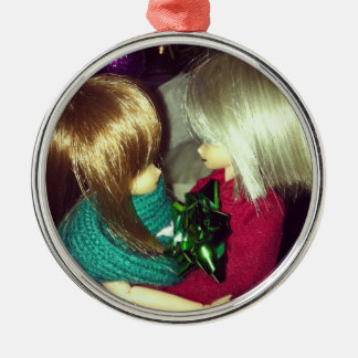 Holiday Night Couple Premium Ornament