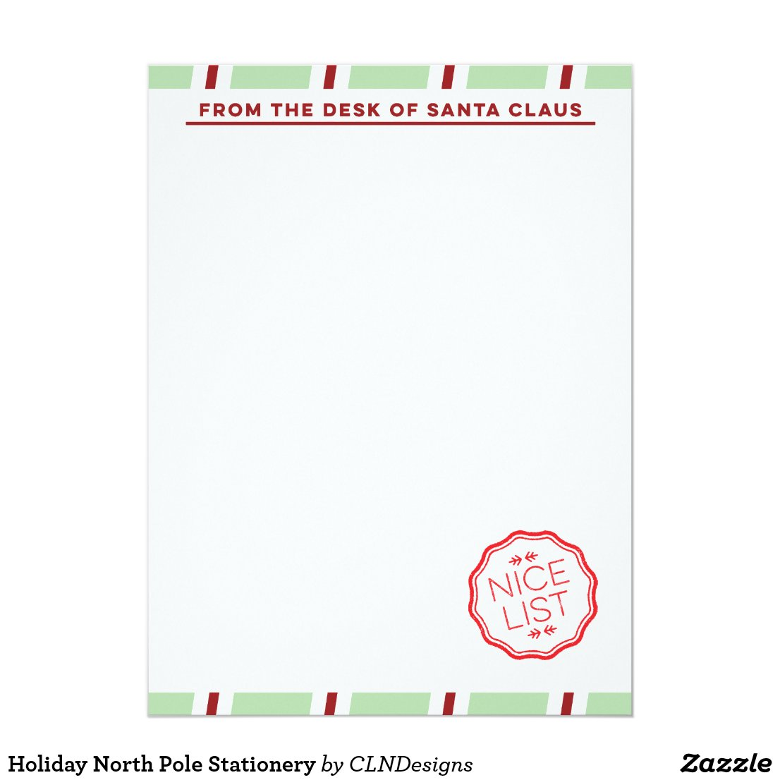 Holiday North Pole Stationery Card
