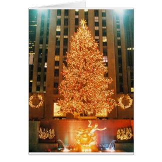 Holiday Note Card Rockefeller Center Tree