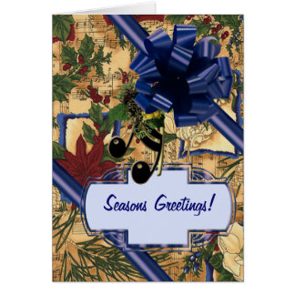 Holiday Notes Greeting Card