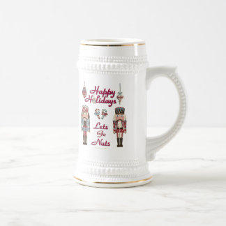 Holiday Nutcracker Lets Go Nuts Beer Stein