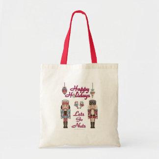Holiday Nutcracker Lets Go Nuts Budget Tote Bag