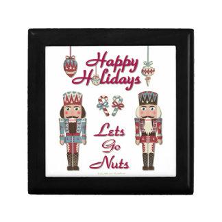 Holiday Nutcracker Lets Go Nuts Trinket Boxes