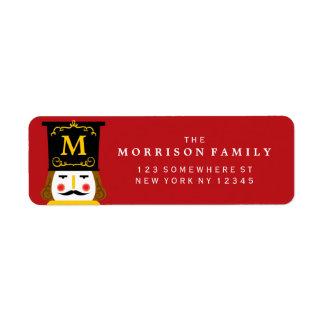 Holiday Nutcracker Monogram Red Label