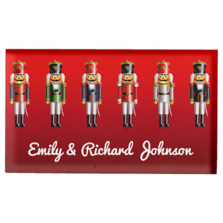 Holiday Nutcracker Toy Soldiers Table Number Holder