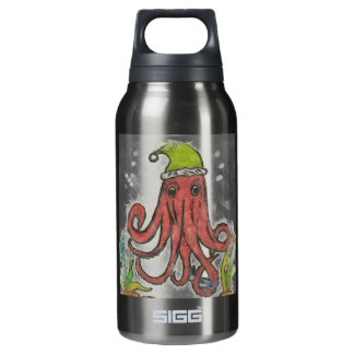 Holidayoctopus 10 Oz Insulated SIGG Thermos Water Bottle