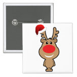 Holiday of funny Christmas santa 2 Inch Square Button