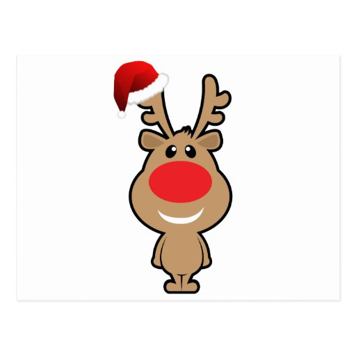 Holiday of funny Christmas santa Postcard