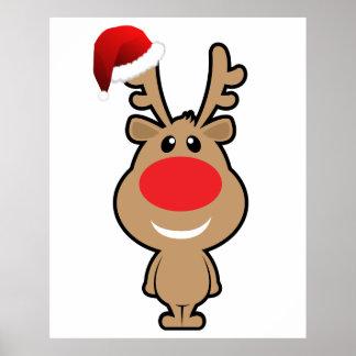 holiday of funny Christmas santa Posters