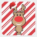 Holiday of funny Christmas santa Square Sticker