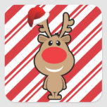 Holiday of funny Christmas santa Stickers