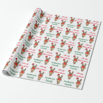 Holiday of funny Christmas Santa Wrapping Paper