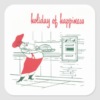 Holiday of happiness square sticker