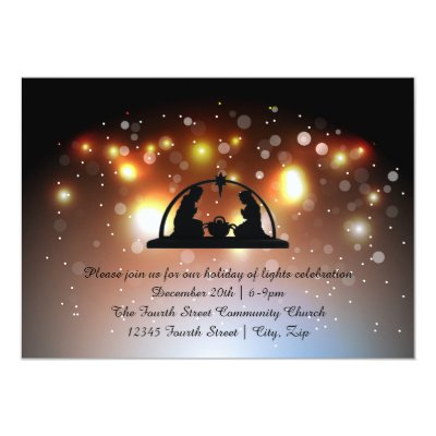 church christmas service invitation template zazzle com