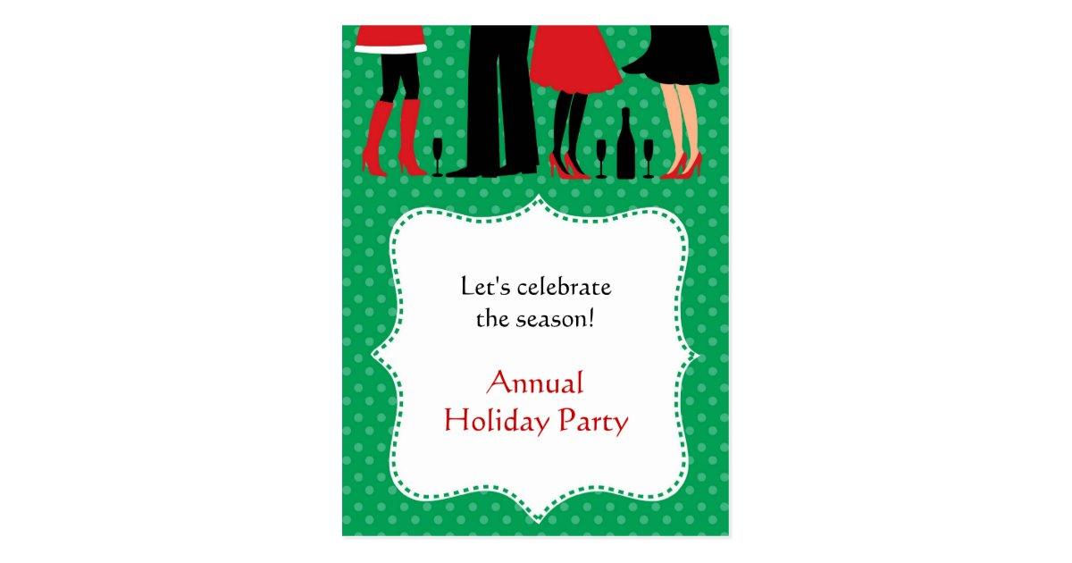 Holiday Office Party Invitation Postcard | Zazzle.com