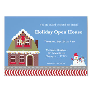 Holiday Open House 5x7 Paper Invitation Card