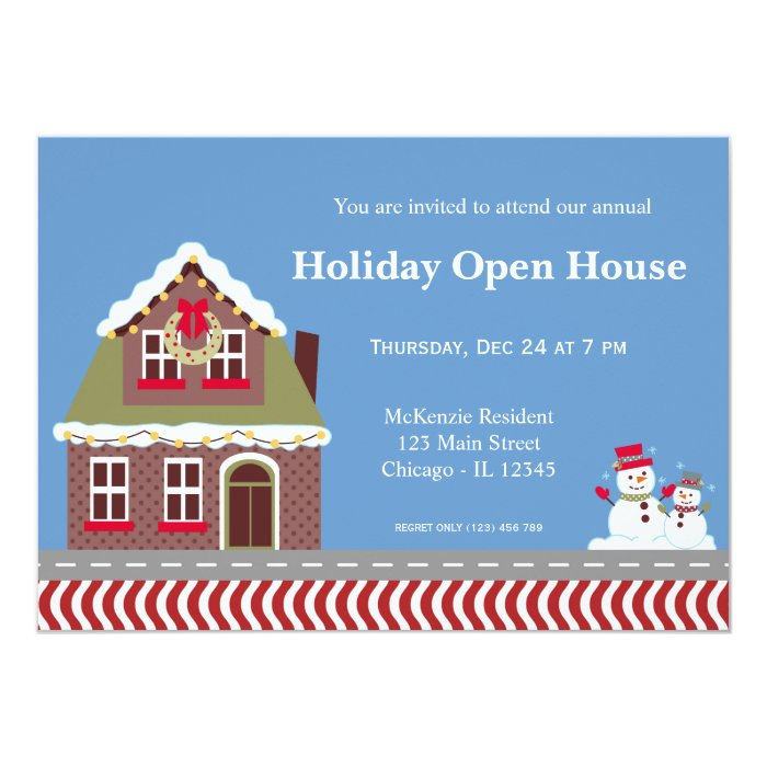 Holiday Open House Card Zazzle