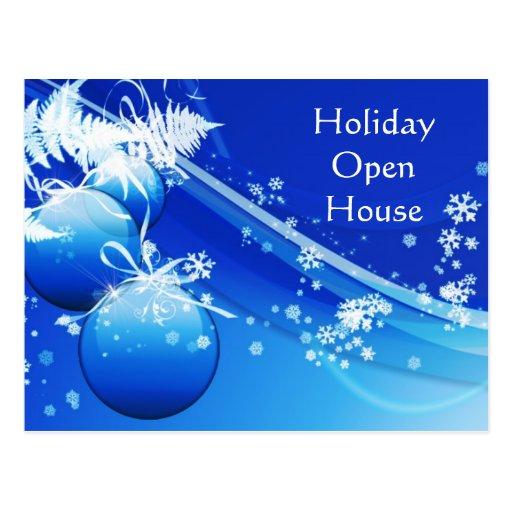 Holiday Open House Invitation Postcard Zazzle