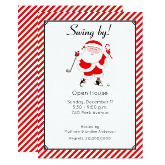 holiday open house invites