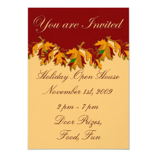 Holiday Open House November Thanksgiving Card