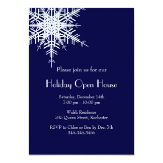 Holiday Open House Offset Snowy Invitation