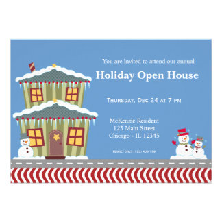 Holiday Open House Personalized Announcement