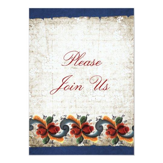 Holiday Open House  Rosemaling Card