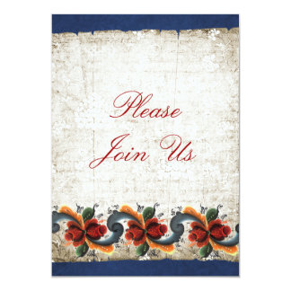 Holiday Open House  Rosemaling 5x7 Paper Invitation Card