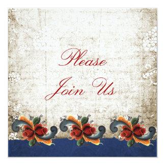 Holiday Open House Rosemaling Scandinavian Card