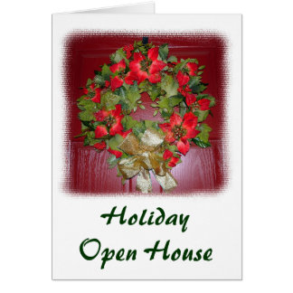 Holiday Open House Stationery Note Card