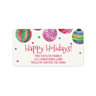 Holiday Ornament Christmas Label
