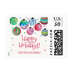 Holiday Ornament Christmas Postage at Zazzle
