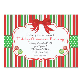 Holiday Ornament Exchange Ginger Bread Men Card