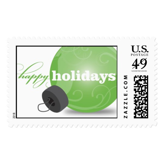 Holiday Ornament - Green Postage
