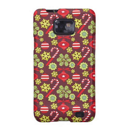 Holiday ornament patterns samsung galaxy s2 cases