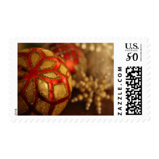 Holiday Ornament Photo in Reflecting Low Light Postage