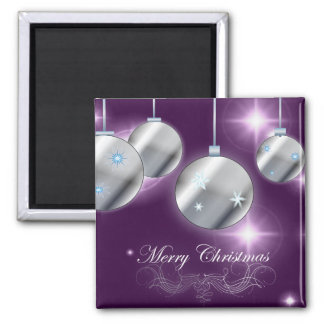 Holiday ornament Purple Christmas Magnet