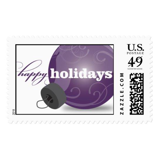 Holiday Ornament - Purple Postage